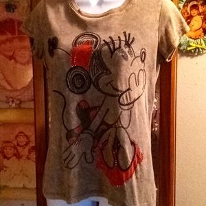 Cute Disney Minnie Mouse Tshirt with Sparkles